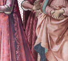 """""""On Wednesdays we wear pink"""" Renaissance Ladies Sticker"""