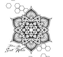 Tattoos by Scott White mandala design by Scott White