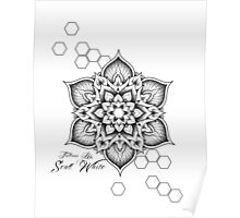 Tattoos by Scott White mandala design Poster