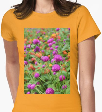 In a World of Mixed Flowers Womens Fitted T-Shirt
