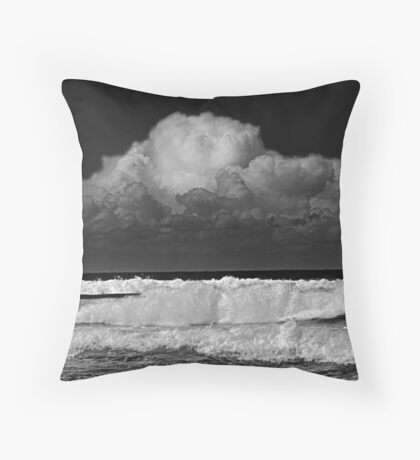 Breaking from on high Throw Pillow