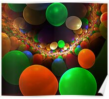 abstract background with bubbles. Poster