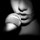 My Lips, His Microphone by diLuisa Photography
