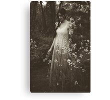 Flower Child, Black and White Canvas Print