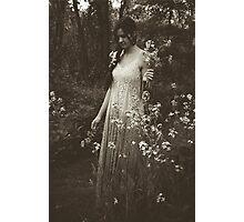 Flower Child, Black and White Photographic Print