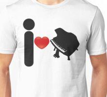 I_Heart_Piano Unisex T-Shirt