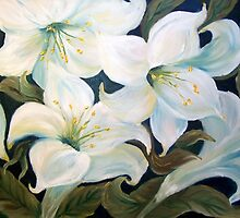 White Lillies by ISABEL ALFARROBINHA