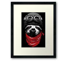 Adventure Sloth Framed Print