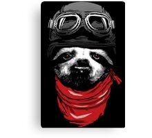 Adventure Sloth Canvas Print