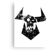 Ork Glyph Black Canvas Print