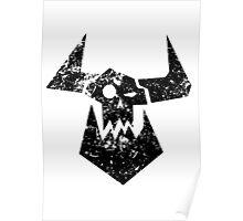 Ork Glyph Black Poster