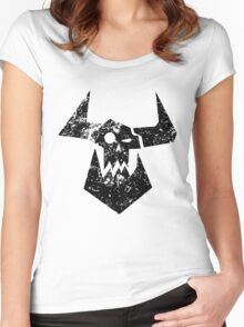 Ork Glyph Black Women's Fitted Scoop T-Shirt