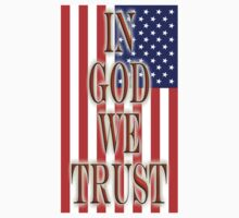 America Motto, In God we trust, USA, American, official motto, flag Kids Clothes