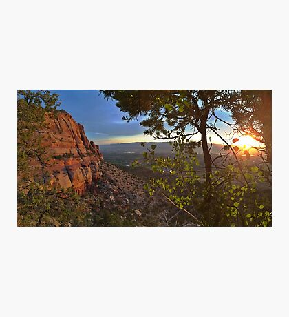 Sunrise Over Grand Junction Colorado Photographic Print