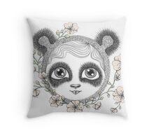 She's got panda eyes Throw Pillow