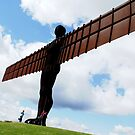 up up and away - Angel of the North by BronReid