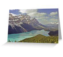 Peyto Lake, Canadian Rockies near Banff, Alberta, Canada Greeting Card