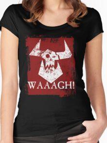 Ork Red Waaargh! Women's Fitted Scoop T-Shirt