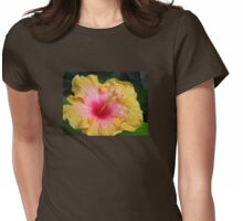 Hibiscus bloom Womens Fitted T-Shirt