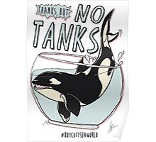 Thanks, but NO TANKS Poster