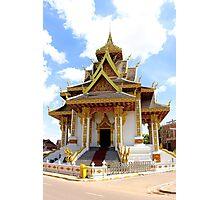 Shiny Wat - Vientiane, Laos. Photographic Print