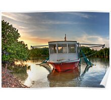 Florida Keys Fishing Boat Poster