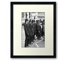 Teddy and the Police Framed Print