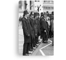 Teddy and the Police Canvas Print