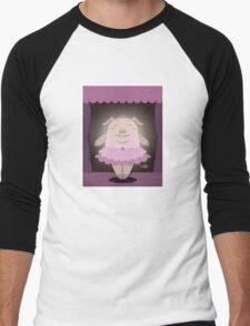 Dancing pig Men's Baseball ¾ T-Shirt