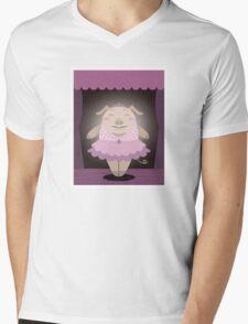 Dancing pig Mens V-Neck T-Shirt