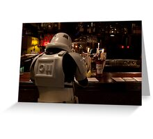 Stormtrooper and a Bar Greeting Card