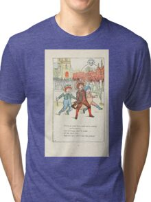 Mother Goose or the Old Nursery Rhymes by Kate Greenaway 1881 0017 Jolly Boys Tri-blend T-Shirt