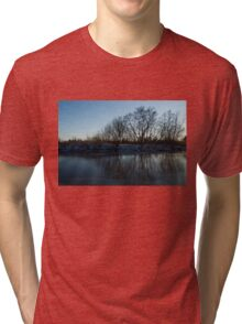 Icy Cool Blue Reflections Tri-blend T-Shirt
