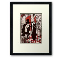 Murder At The Black Cat Bar Framed Print