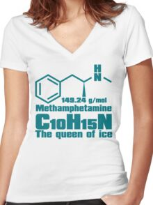 Methamphetamine Women's Fitted V-Neck T-Shirt