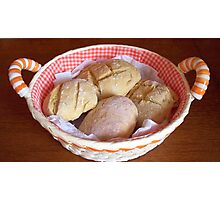 Appetizing home bread rolls. Photographic Print