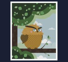 Owl in a branch Kids Tee