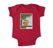 Owl in a branch One Piece - Short Sleeve
