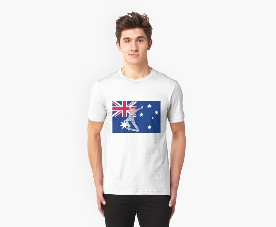Australian Flag Skater  by eliot hurley