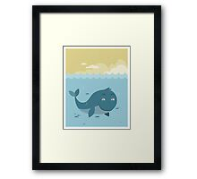 Whale at sea Framed Print