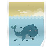 Whale at sea Poster