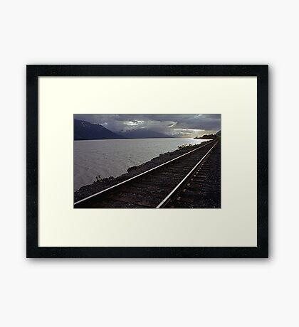 Alaska Rail Framed Print