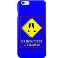 Attention new years eve party ahead geek funny nerd iPhone Case/Skin