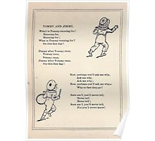 Miniature Under the Window Pictures & Rhymes for Children Kate Greenaway 1880 0010 Tom and Jimmy Poster