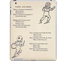 Miniature Under the Window Pictures & Rhymes for Children Kate Greenaway 1880 0010 Tom and Jimmy iPad Case/Skin