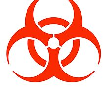 Bio Hazard, DANGER, WARNING, Symbol, Biological hazard, BIOHAZARD, in red by TOM HILL - Designer
