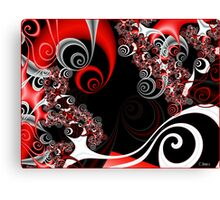 Red Smoke Canvas Print