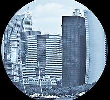 Eye on the city - Fisheye print by Mark Podger