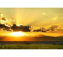 God's Sunset III Photographic Print