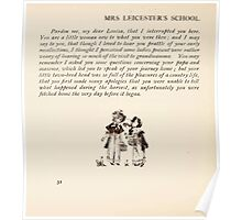Mrs Leicester's School Charles & Mary Lamb with Minifred Green 18xx 0054 Farmhouse Tailpiece Poster